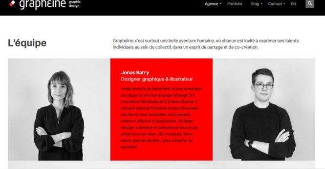 Exemple page à propos Agence Graphéine