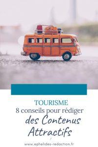 conseils pour rediger des contenus touristiques attractifs - epingle pinterest